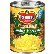 Del Monte Crushed Pineapple in Juice, 20 Ounce Can -- 12 per case