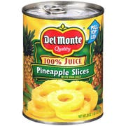 Del Monte Sliced Pineapple, 20 Ounce -- 12 per case.