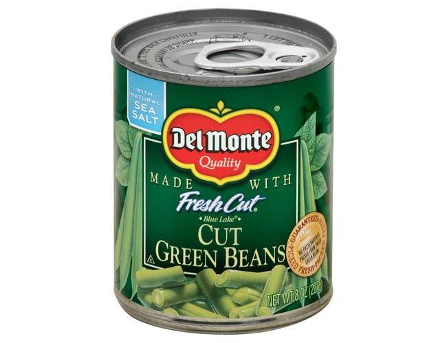 Del Monte Fresh Cut Green Bean Cut, 8 Ounce -- 12 per case.