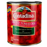 Contadina Diced Tomatoes in Juice - no. 10 can, 6 cans per case