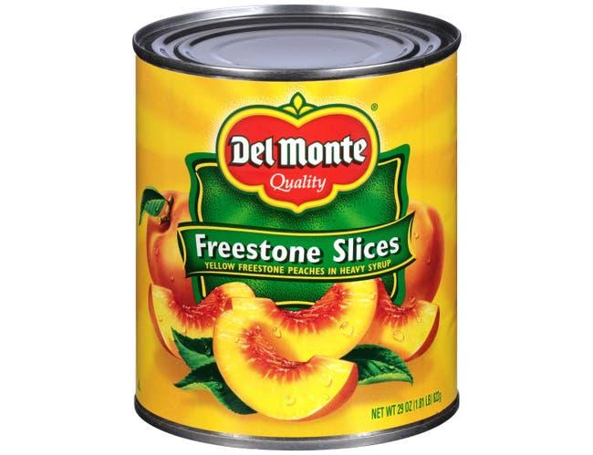 Del Monte Sliced Yellow Freestone Peaches in Heavy Syrup, 29 Ounce -- 6 per case.