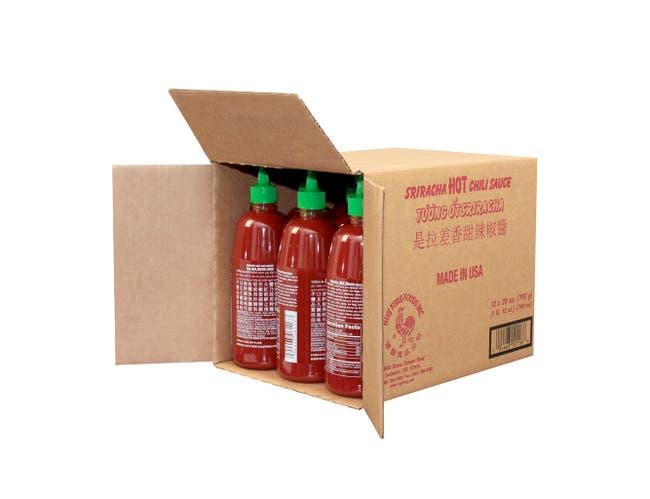Huy Fong Sriracha Chili Sauce, 28 Ounce -- 12 per case.
