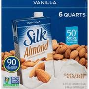 Silk Vanilla Pure Almond Milk, 32 Ounce -- 6 per case.