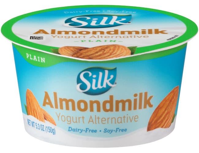 Silk Cultured Plain Almondmilk Yogurt Alternative, 5.3 Ounce -- 8 per case.