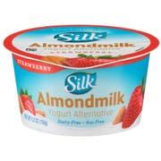 Silk Strawberry Cultured Almondmilk Yogurt Alternative, 5.3 Ounce -- 8 per case.