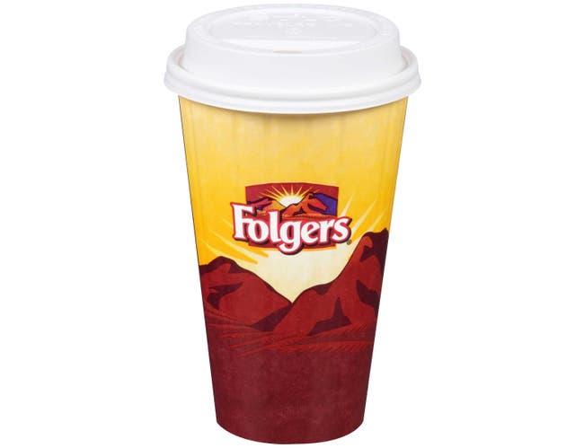 Folgers Paper Cup, 16 Ounce -- 525 per case.