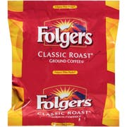 Folgers Classic Roast Ground Coffee - 1.5 oz. filter pack, 160 filter packs per case