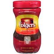 Folgers Caffeinated Instant Coffee, 8 Ounce -- 6 per case.