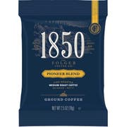 Folgers 1850 Pioneer Blend Medium Roast Ground Coffee, 2.5 Ounce -- 24 per case.