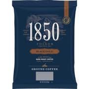 Folgers 1850 Black Gold Dark Roast Ground Coffee, 9 Ounce -- 12 per case.