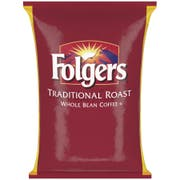 Folgers Whole Bean Traditional Roast Coffee, 5 Pound -- 6 per case.