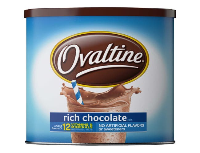 Nestle Ovaltine Milk Flavoring Rich Chocolate Mix, 18 Ounce Canister -- 4 per case.