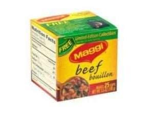 Maggi Beef Bouillon Cube - 25 per pack -- 24 packs per case.