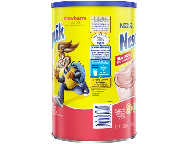Nestle Nesquik Not Ready to Drink Strawberry Powder Beverage, 30.4 Ounce -- 3 per case.