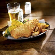 Trident Seafoods Golden Ale Battered Haddock Fillet, 8.5 Ounce -- 1 each.