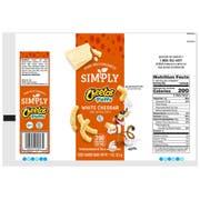 Cheetos Simply White Cheddar Puffs, 1.25 Ounce Plastic Bag -- 64 per case.