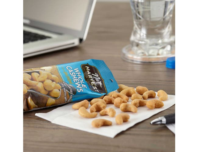 Nut Harvest Sea Salted Whole Cashew, 2.25 Ounce -- 48 per case.