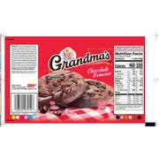 Grandmas Fudge Chocolate Brownie Big Cookie, 2.5 Ounce -- 60 per case.