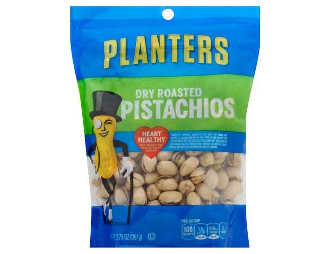 Planters Dry Roasted Pistachio Snacks, 12.75 Ounce -- 6 per case.