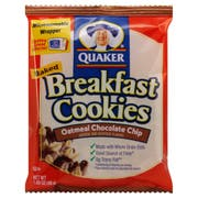 Quaker Chocolate Chip Breakfast Cookie - 1.7 oz. package, 50 per case
