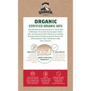 Quaker Organic Regular Instant Oatmeal, 7.9 Ounce -- 6 per case.