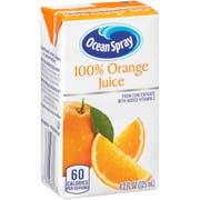 Ocean Spray 100 Percent Orange Juice, 4.2 Fluid Ounce -- 40 per case.