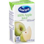 Ocean Spray 100 Percent Apple Juice, 4.2 Fluid Ounce -- 40 per case.