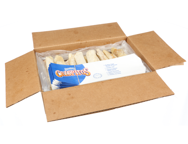 Crispitos Fully Cooked Chicken Chili Filling in a Flour Tortilla, 7.3 Pound Box -- 1 each