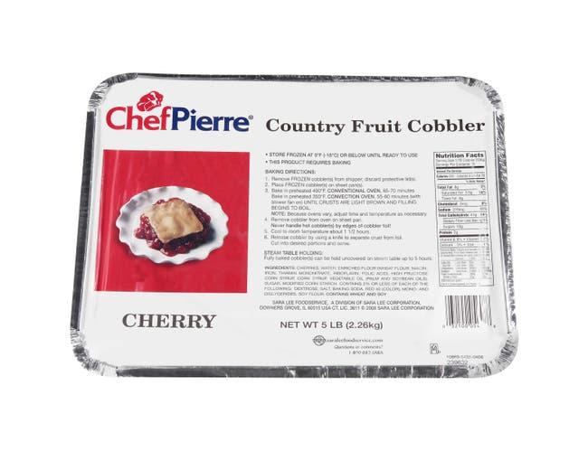 Sara Lee Chef Pierre Cherry Cobbler, 5 Pound -- 4 per case.