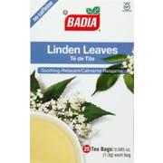 Badia Linden Tea Bag - 25 tea bags per pack -- 100 packs per case