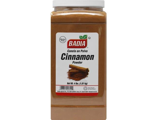 Badia Ground Fancy Cinnamon, 4 Pound Bottle -- 4 per case