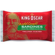 King Oscar 2 Layer Sardines in Extra Virgin Olive Oil, 3.75 Ounce -- 12 per case.