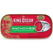 King Oscar Anchovies, 2 Ounce -- 18 per case.