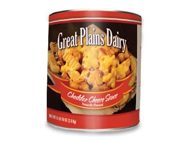 Gehls Great Plains Cheddar Sauce -- 6 cans per case.