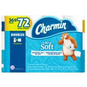 Charmin Ultra Soft 2 Ply Unscented Toilet Paper Roll, 556 Square Foot -- 1 each