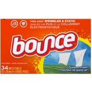 Bounce Outdoor Fresh Sheet, 34 count per pack -- 12 per case.