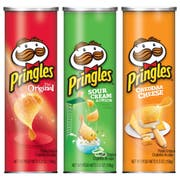 Pringles Original, Sour Cream and Cheddar Cheese Potato Crisps -- 56 per case