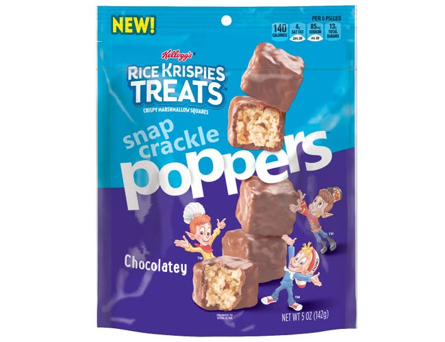 Kellogg's Rice Krispies Treats Poppables Chocolate Marshmallow Square, 5 Ounce -- 6 per case.