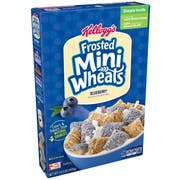 Kelloggs Blueberry Frosted Mini Wheats Cereal, 14.3 Ounce -- 10 per case