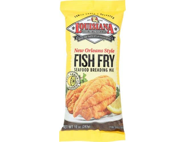 Louisiana Fish Fry Products New Orleans Style Lemon Added Fish Fry Seafood Breading Mix, 10 ounce -- 12 per case