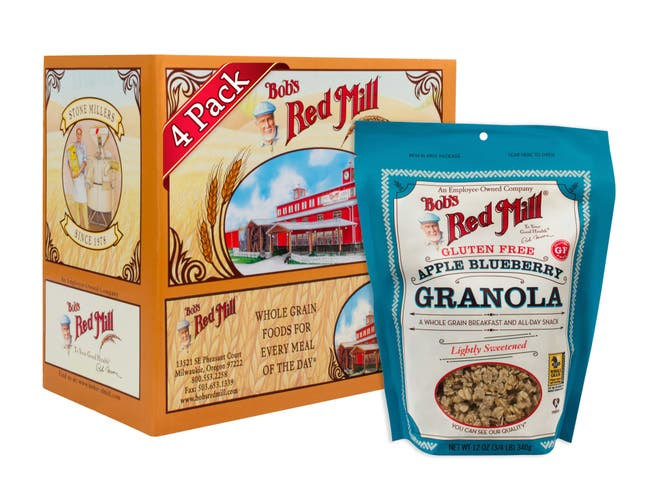 Bobs Red Mill Apple Blueberry Granola, 12 Ounce -- 4 per case