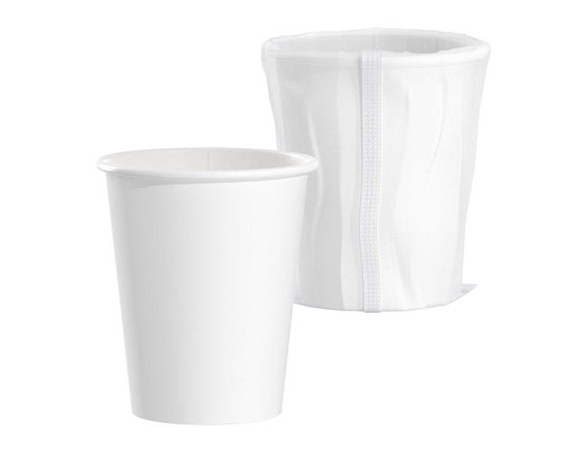 Solo White Designer Single Sided Lined Poly Paper Hot Cup, 10 Ounce -- 1000 per case.