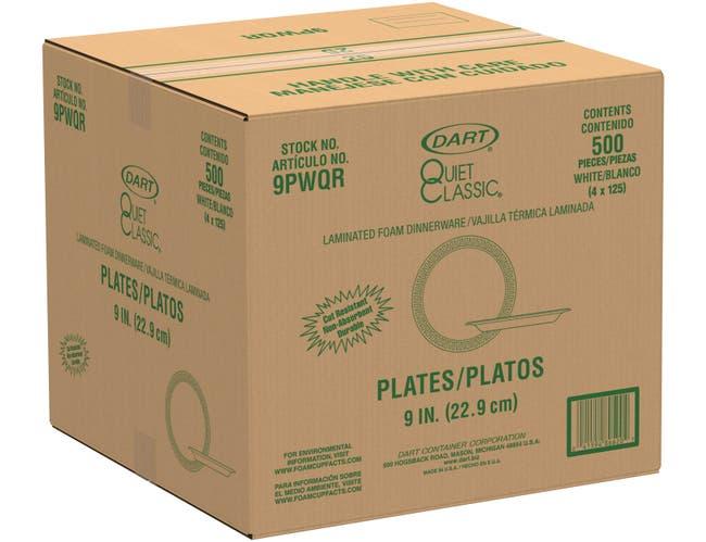 Solo White Foam Centerpiece Dinner Plate, 9 inch -- 500 per case.