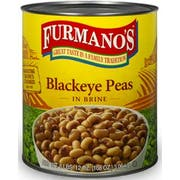 Furmanos Blackeye Peas in Brine, Number 10 Can -- 6 per case
