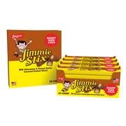 Jimmie Stix Giant Size Milk Chocolate and Peanut Butter Covered Pretzel Sticks, 3.6 Ounce -- 150 per case.
