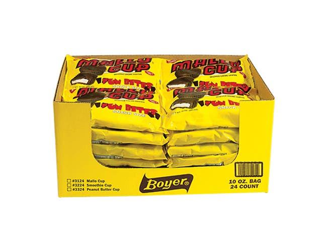 Boyer Mallo Cup Candy, 10 Ounce Bag -- 24 per case.