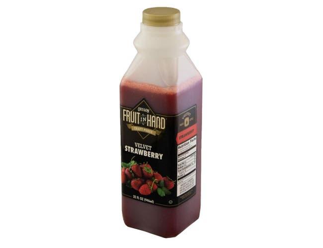 Fruit in Hand Strawberry Velvet Craft Puree, 32 Fluid Ounce -- 6 per case.
