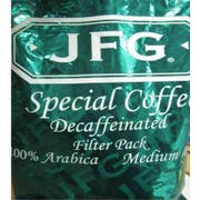 JFG 100 Percent Arabica Medium Roast Special Blend Coffee Decaf, 2 Ounce -- 70 per case.