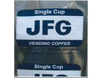 JFG Single Cup Vending Coffee, 2 Pound -- 12 per case.