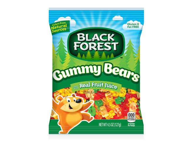 Black Forest Gummy Bears and Worms Candy, 4.5 Ounce -- 72 per case.